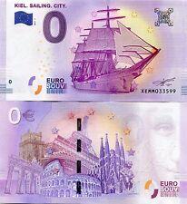 Kiel Sailing City Germany 0 Euro Souvenir Note 2017 Series 1 Consecutive Bills
