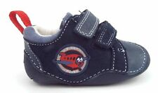 New CLARKS First Shoes Tiny Wing Navy Leather UK 2 H - EUR 17.5 - New in Box
