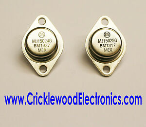 MJ15024 and/or MJ15025 Genuine Original ON Semiconductor (Used to be Motorola)
