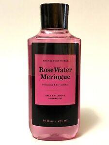 NEW 1 BATH & BODY WORKS ROSE WATER MERINGUE BODY WASH SHOWER GEL 10 FL OZ SHEA
