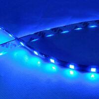 2Pcs Car 12V 12 LED Blue 30cm 5050 SMD Strip Flexible Light Decor Accessories 3w
