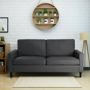 2/3 Seater Armchair Fabric L Shaped Corner Sofa Settee Couch Padded Bedroom Grey