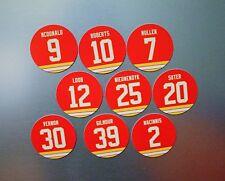 Calgary Flames 1989 Cup Team Fridge Magnets: Vernon, MacInnis, Roberts, McDonald