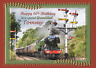flying scotsman train personalised A5 birthday card son brother nephew name age