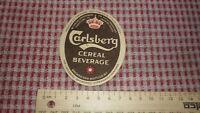 1940s DANISH BEER LABEL, CARLSBERG BRYGGERI COPENHAGEN DENMARK, CEREAL BEVARAGE