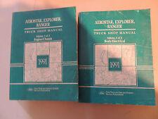 Ford Bronco II Ranger Aerostar 1991 service shop manual Werkstatthandbuch