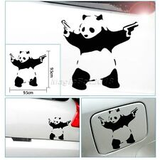 Funny Car Stickers Panda With Guns For AUTO CAR Truck WINDOW BUMPER ART Decals