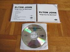 ELTON JOHN Songs From The West Coast RARE GERMANY acetate CD album
