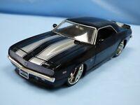 Jada 1:24 Black Custom Interior 1968 Chevrolet Camaro SS Muscle Car Diecast Toy