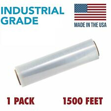 Pallet Shrink Wrap Film Shrink Hand Wrap 80 Gauge 18-inch x 1500 Feet 1 pack