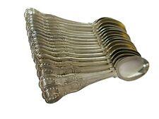 "Sterling Silver Antique English Kings Pattern Spoons. 7.15"". George Adams 1864"