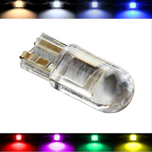10x 2x T10 W5W Glass Bulbs Lamps Lamp Light Cold White Green White