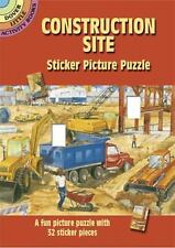 Construction Site Sticker Picture Puzzle (Paperback or Softback)