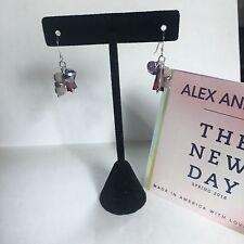 """ALEX AND ANI """"MEADOW SPRING MEADOW"""" DROP EARRINGS IN RAFAELIAN SILVER NWT! RARE!"""
