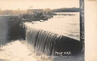 Rock Island Illinois~Wooden Dam at the Reservoir~Photo by Frost~c1905 RPPC