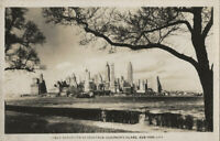 NY New York City Lower Manhattan As Seen From Governor's Island 1940s Postcard