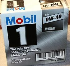 0w40 MOBIL-1 Fully Synthetic Motor Oil 6 Quarts in Case - 98HC64