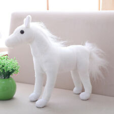 cute plush simulation horse toy stuffed white horse doll gift about 40cm