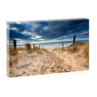 Bild auf Leinwand Fensterblick Nordsee Strand Meer Poster XXL 100 cm*65 cm 301