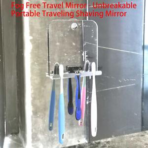 Square Acrylic Anti Fog Shower Mirror Bathroom Fogless Fog Free Washroom Mir bw