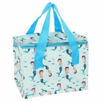 NEW Mermaid Cool Bag Mini Cooler Lunch Box Blue Christmas Gift Insulated Coolbag