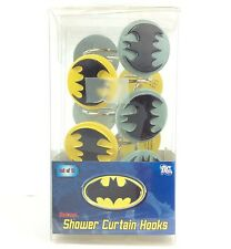 DC Comics Warner Bros Batman Pack of 12 Shoer Curtain Hooks HV361T NEW