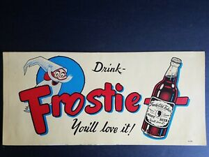Vintage 1950s Drink Frostie Root Beer Topflight Print Stix Soda Advertising