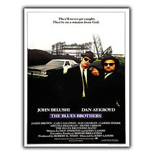 The Blues Brothers Steven Spielberg METAL SIGN WALL PLAQUE Poster Print cinema