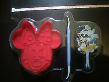 Disney Baking Minnie Mouse Cookie Cutter with cake toppers & decorating tool