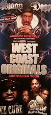SNOOP DOGG FLYER WEST COAST ORIGINALS TOUR 2008 RARE FREE POST AUSTRALI
