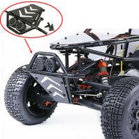 Metal Front Guard Bumper With LED Light Cover for 1/5 ROVAN HPI KM Baja 5T 5SC
