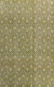 Contemporary Trellis Green Oushak Oriental Area Rug Wool Handmade 8x11 Carpet