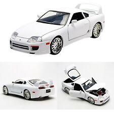 Fast and Furious Model Car Die Cast Jada Toy Replica Brian Toyota Supra Vehicle