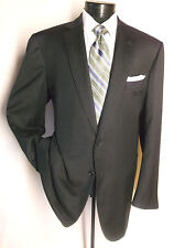 Battistoni Navy Blue Striped 2 Button Suit Jacket Made In ITALY Size 48L