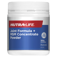 Nutra-Life Joint Formula + MSM Concentrate Powder 300g Glucosamine NutraLife