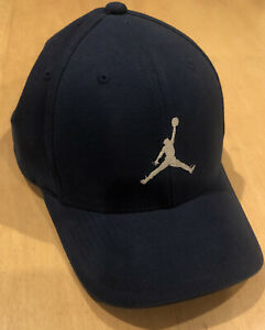 Air Jordan Nike Jumpman Flex Fit Stretch Hat Cap Navy Blue Large / XL L