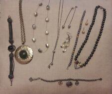 Lotto stock gioielli bigiotteria orecchini bracciale e collana Kemira argento925