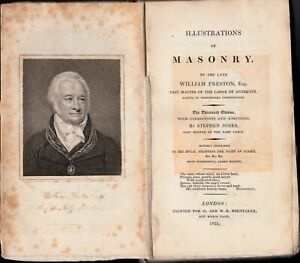00047. Preston - 'Illustrations of Masonry'  13th Edition London 1821 (portrait)