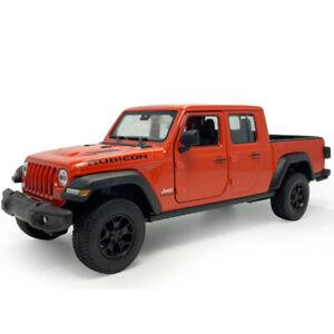1:27 2020 Jeep Gladiator Pickup Truck Model Car Diecast Collection Gift Orange