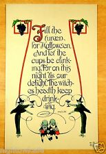 HALLOWEEN TOAST The Witches Health Keep Drinking rare Nash H-9 Antique Postcard