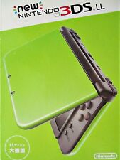 Japanese Nintendo 3DS LL IMPORTED Lime Green, 3 Pokemon games (MOON)