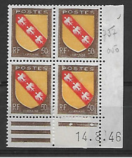 TIMBRES FRANCE-N° 757 NEUF** BLOC DE 4 SANS TRACE DE CHARNIERE