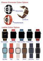 Leather Modern Buckle Apple Watch Band For iWatch Series SE 6 5 4 3  38/40/42/44