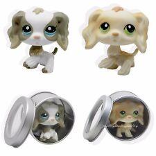 2pcs #2254 #347 Littlest Pet Shop Cocker Spaniel Puppy Dog LPS Rare
