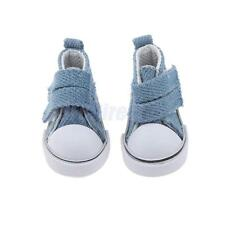 Canvas Denime Blue Touch Fastening High Top Shoes for 1/6 BJD Doll Accessory