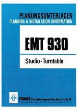 Manual-Planungsunterlagen  für EMT 930