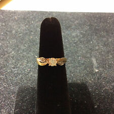 VINTAGE 14K YELLOW GOLD DIAMOND RING SIZE 4.5