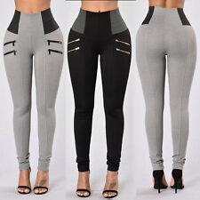 2017 Women High Waisted Stretch Skinny Long Trousers Leggings Slim Pencil Pants