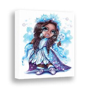 Winter Fairy Wall Art African American Girls Room Decor Frozen Princess Canvas