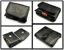 LEATHER BICYCLE PLAYING CARD CASE WALLET PROTECTOR CARDS DECK HOLDER MAGIC TRICK